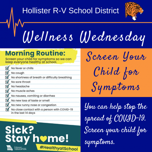 screen your child for symptoms