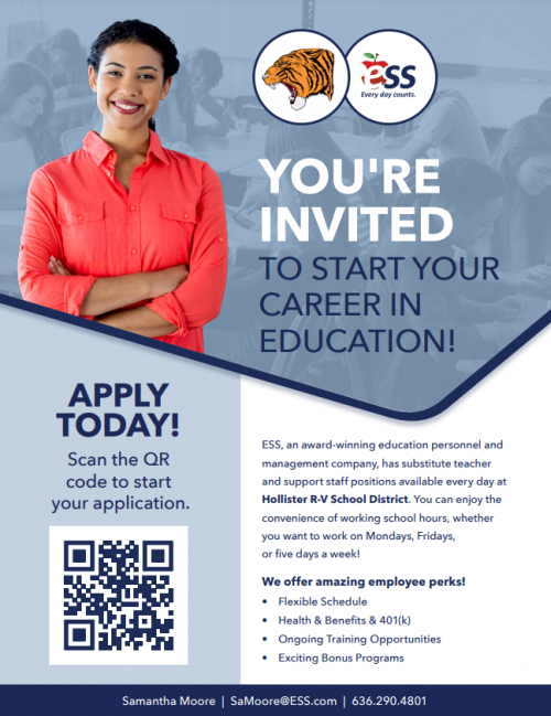 You're Invited to begin an career in education