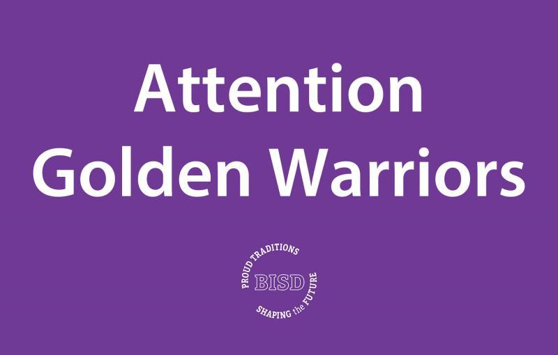 Bonham Golden Warriors Purple Pass!