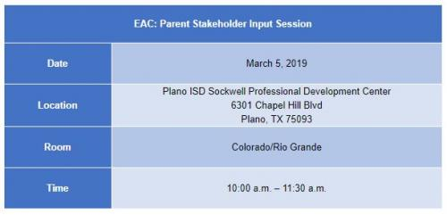 EAC: Parent Stakeholder Input Session (ELL Parents)