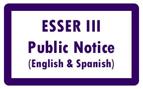 ESSER 3 Public Notice