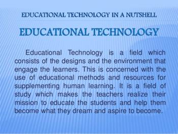 Picture of Educational Technology Meaning