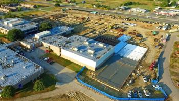 Aerial views of the progress on the new Bonham High School!
