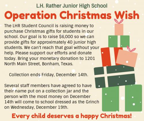 #LHRather Operation Christmas Wish!!