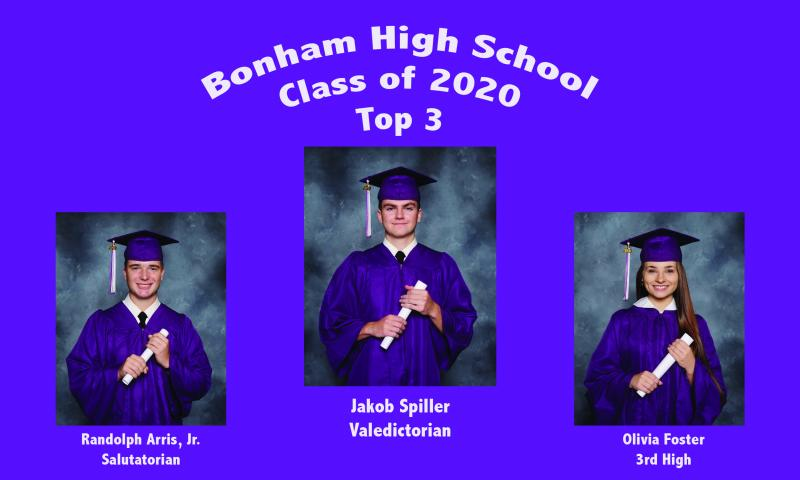 BHS Top 3: Class of 2020