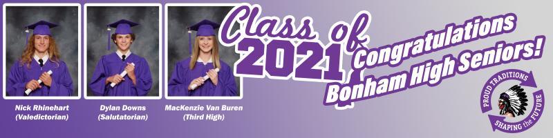 Bonham High Class of 2021: Top 3!