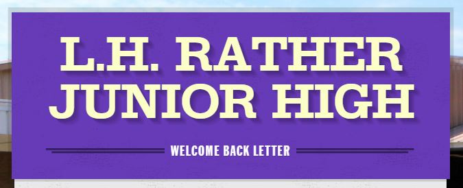 Welcome Back Letter: LH Rather 2019