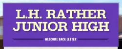 Thumbnail Image for Article Welcome Back Letter: LH Rather 2019