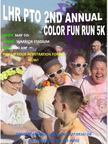 Come join us for the LH Rather PTO 2nd Annual Color Fun-Run & 5K!