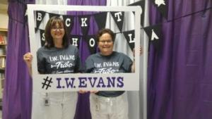 Mrs. Wood and Mrs. McCommas on Meet the Teacher Night