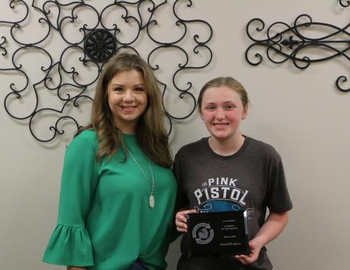 March Student of the Month, Annabelle Green