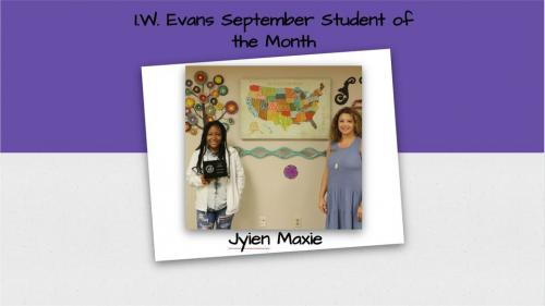 September 2020 Student of the Month