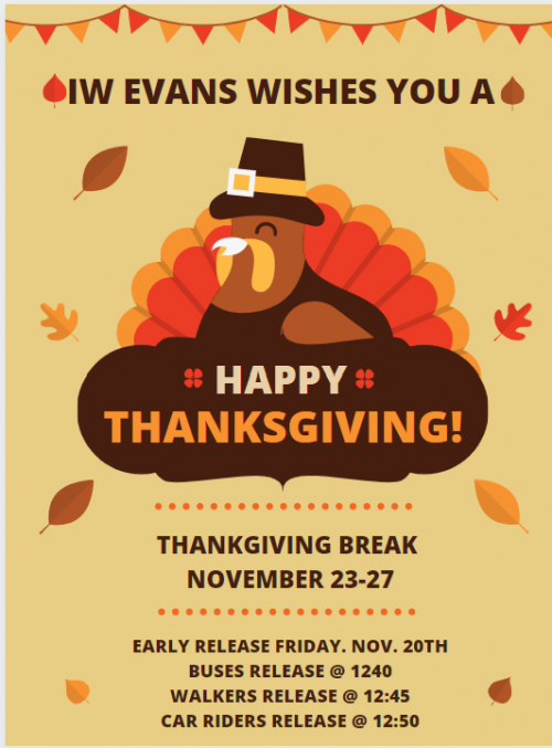 Thankgiving Release Dates Poster