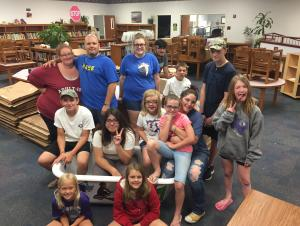 Thanks, Boyd Youth, for your help putting the books back on the shelves!