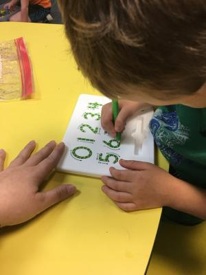 practicing writing numbers 1-10