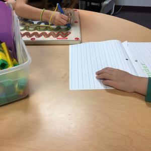 Working on handwriting