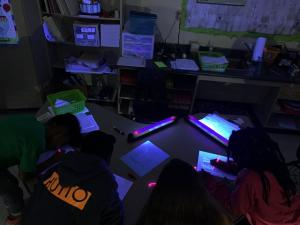 Learning under black light