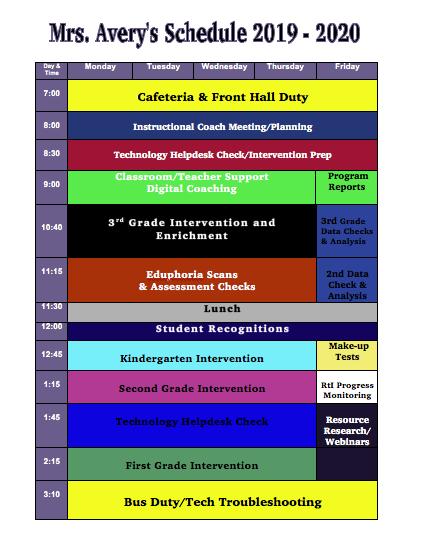 Schedule 2019-2020