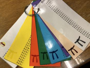 Photo of multiplication tables