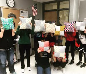 Textiles - patchwork pillows