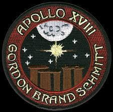 Mission patch for Apollo 18 - Did not launch.
