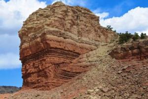 A reverse fault in Utah.