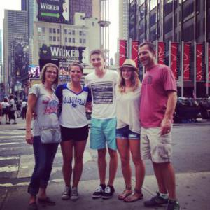 My family on vacation in New York City.