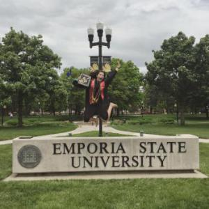 Proud Alumni of Emporia State University. Stingers up!