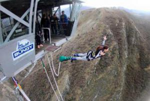 Bungee jumping in New Zealand.
