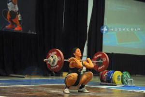 The clean in Olympic lifting.