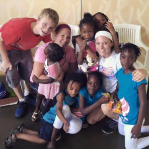 The mission trip I went on this summer (2015) to Jamaica. I've also been to Ecuador on a mission trip. All of my mission trips have been with Westside Family Church (my church in Shawnee, KS)