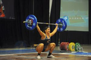 The snatch in Olympic lifting.
