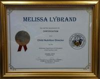 Melissa Lybrand certification picture