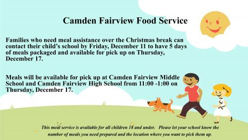 Christmas Break Food Service