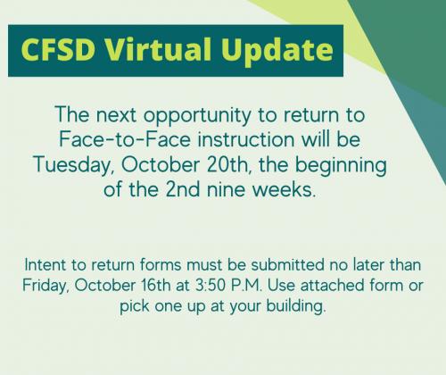 CFSD Virtual Updates