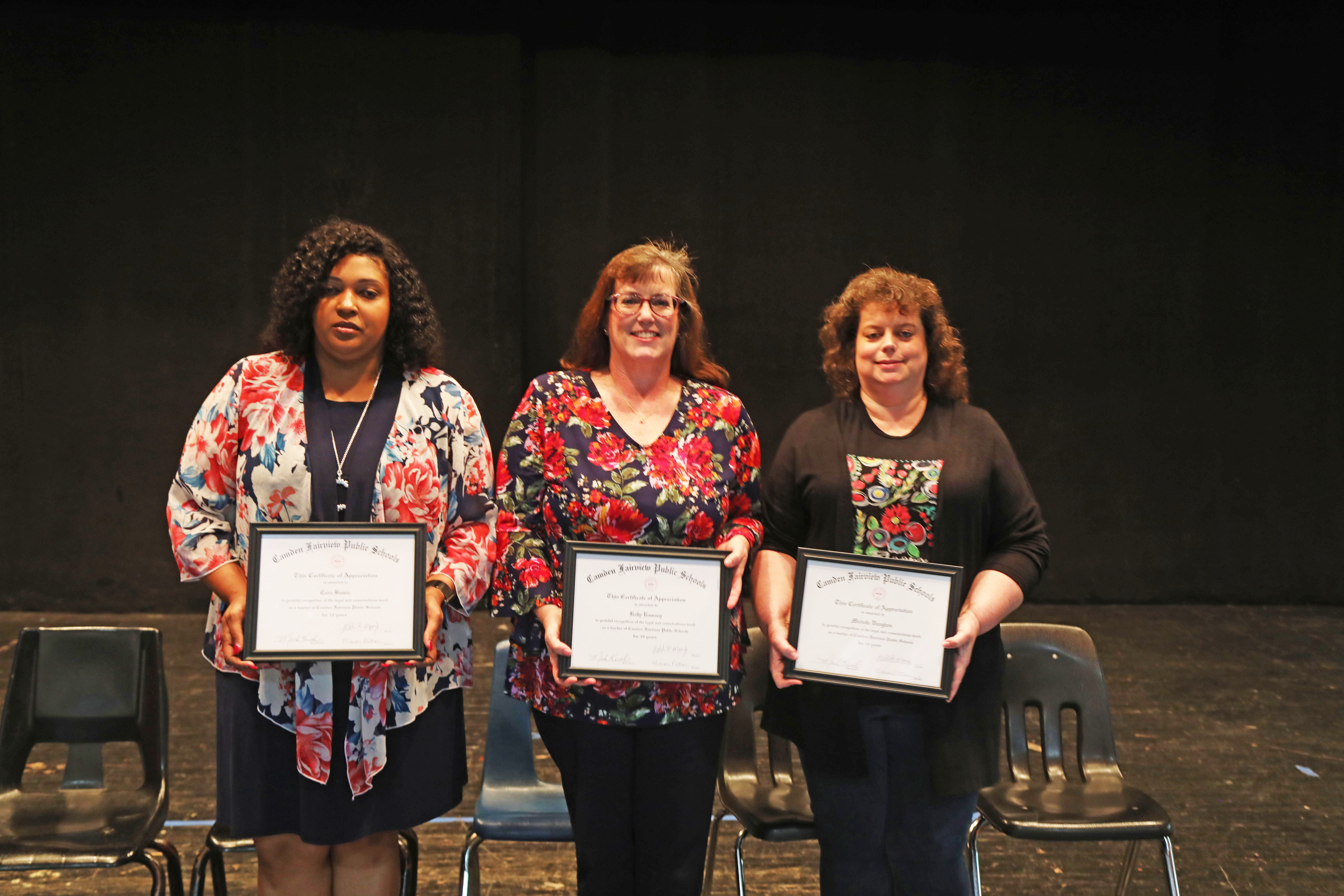10 Year Certified: Cara Bowie, Kelly Ramsey, Michelle Vaughn