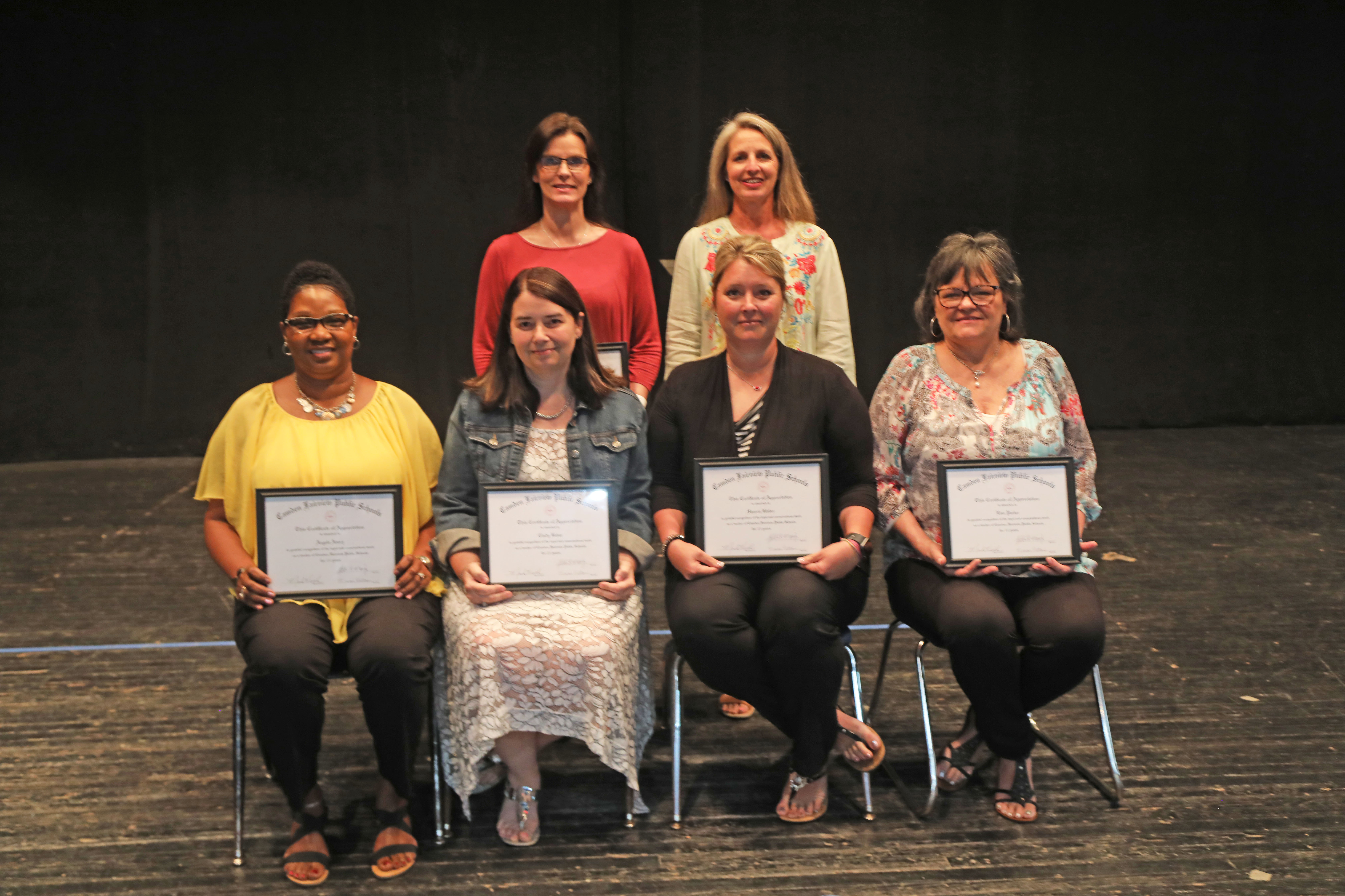 15 Year Certified: Front Row L to R: Angela Avery, Cindy Bever, Crissy Klober, Lisa Parker Back Row L to R: Alicia Steelman, Rebecca Roark