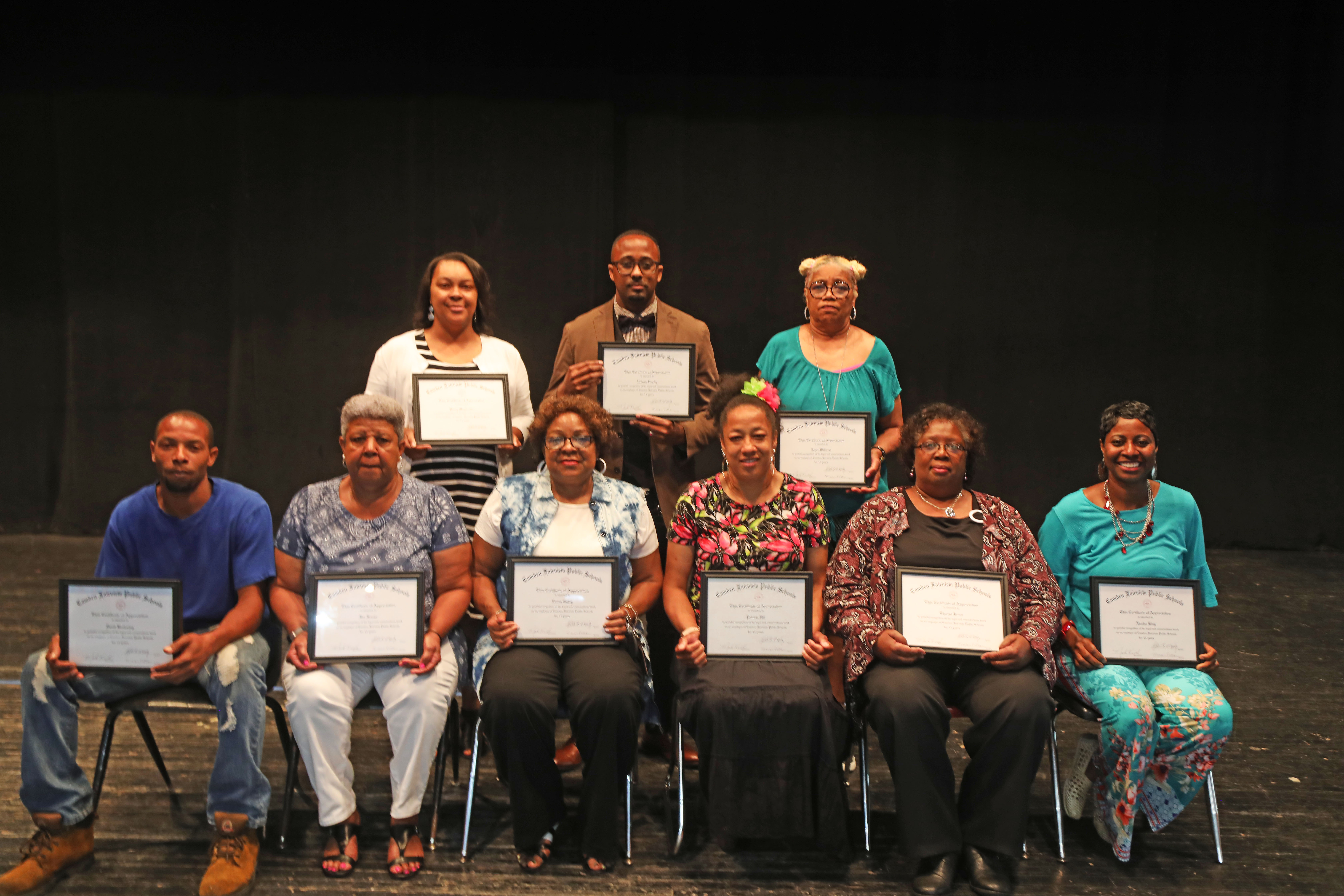 15 Year Classified: Front Row L to R: David Browning, Ida Frazier, Emma Gulley, patricia Hill, Theresa James, Aleatha King  Back Row L to R: Penny Mayweather, Undrea Romby, Joyce Williams