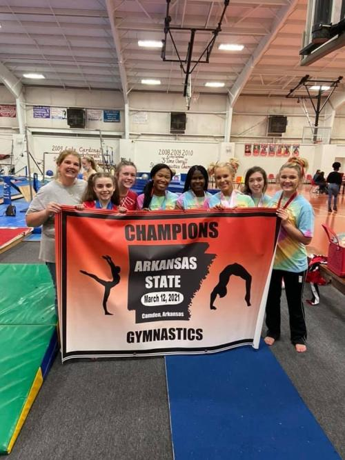 2021 Cardinal Gymnastics State Champions