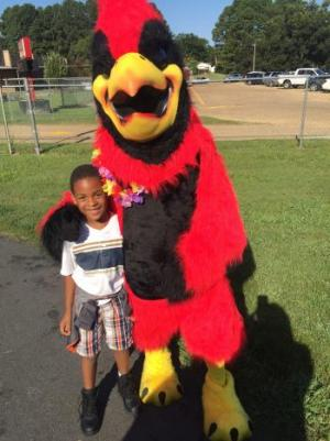 """I wanna be the Cardinal bird when I grow up!"" -Kylen"