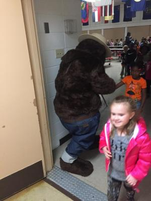 Meeting Smokey Bear 10-31-17