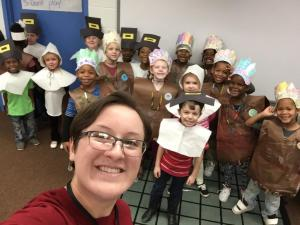 Ready for our Kindergarten Thanksgiving Feast, 11-17-17