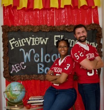 FES Principal:Treasa Thrower and Assistant Principal:Matt Patterson