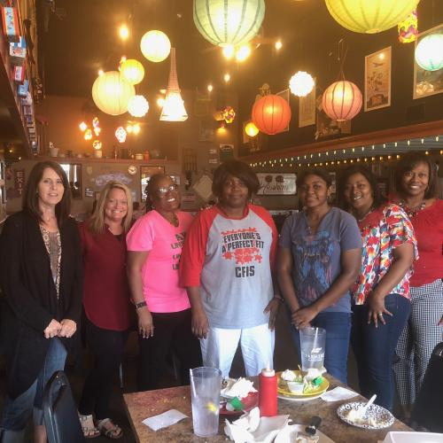 Camden Fairview School Counselors Celebration Retirement for Phyllis Watkins