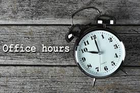 SCCSD Office hours