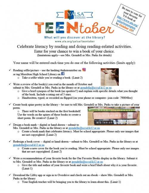 YALSA's TEENTober Contest