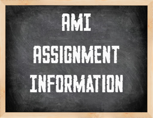 Alternative Method of Instruction (AMI) Assignments