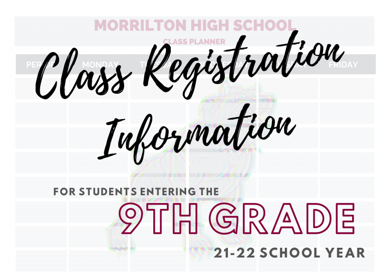 Class Registration Information for Students Entering 9th Grade
