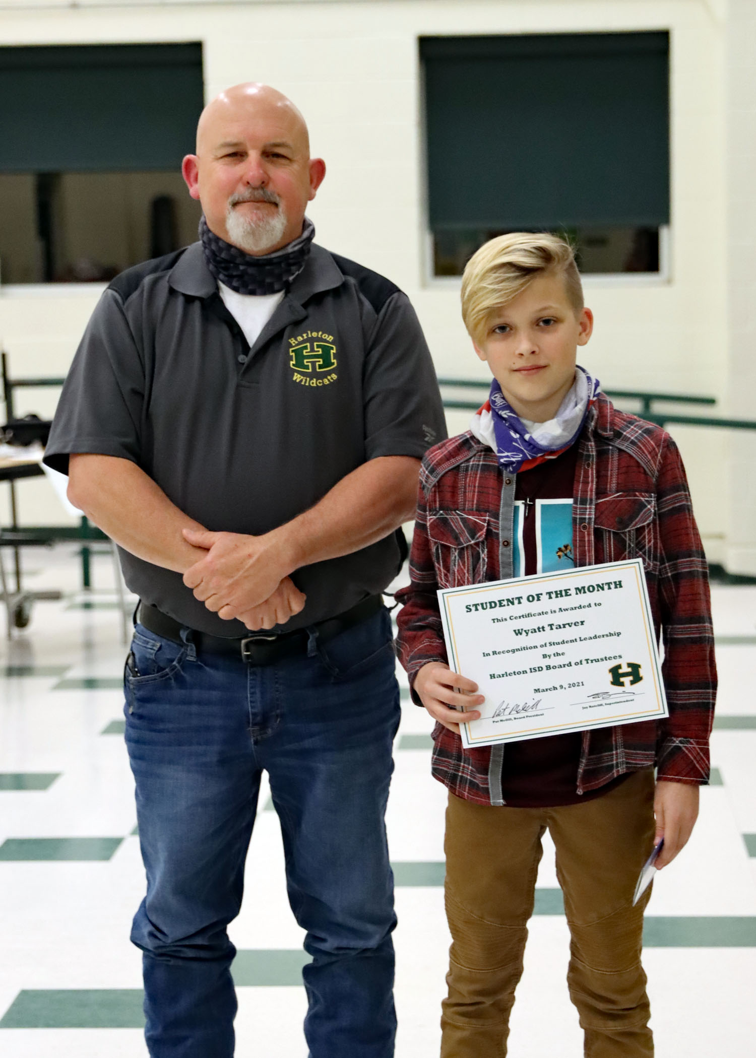 March Student of the Month Wyatt Tarver!