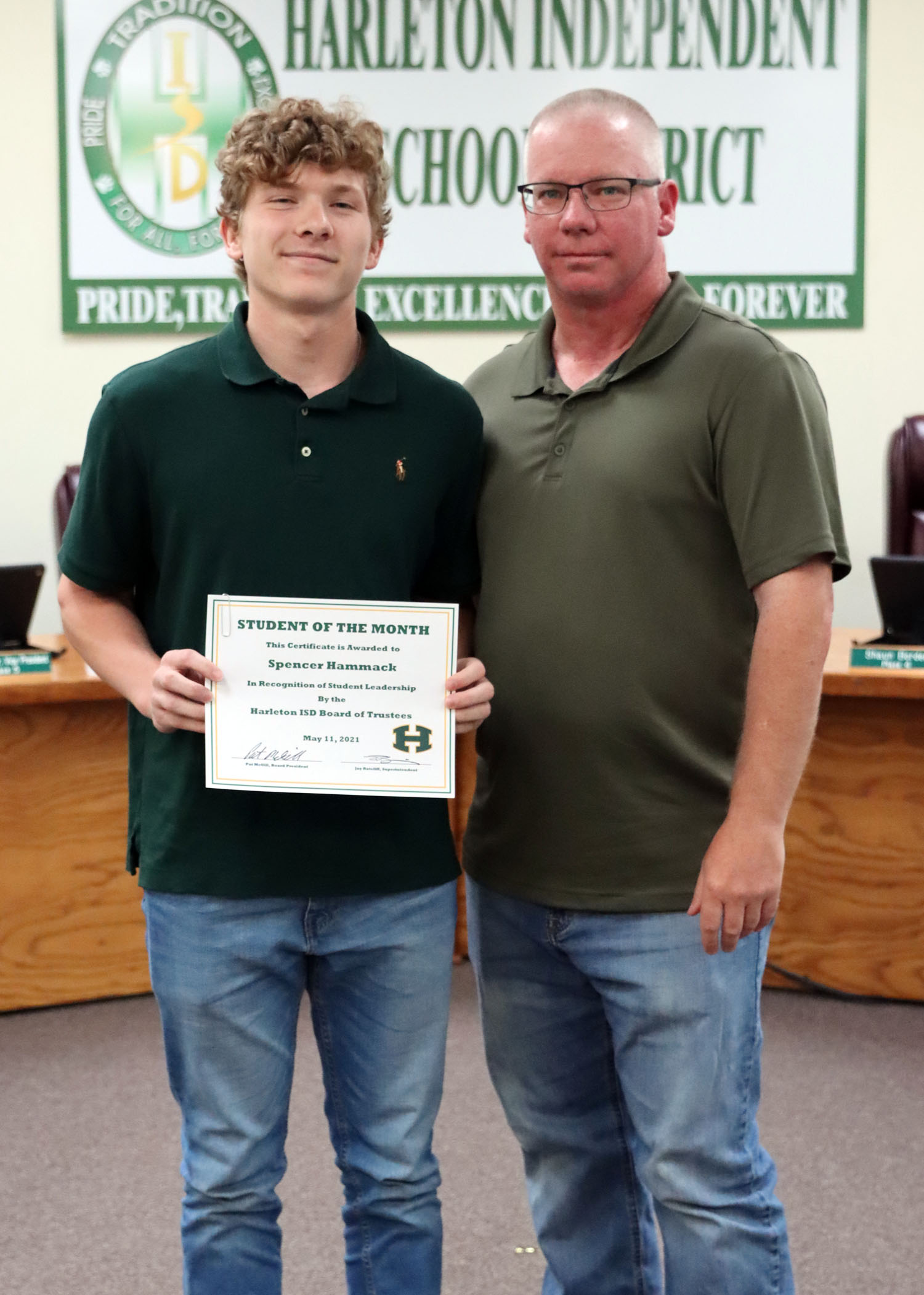 May Student of the Month Spencer Hammack!
